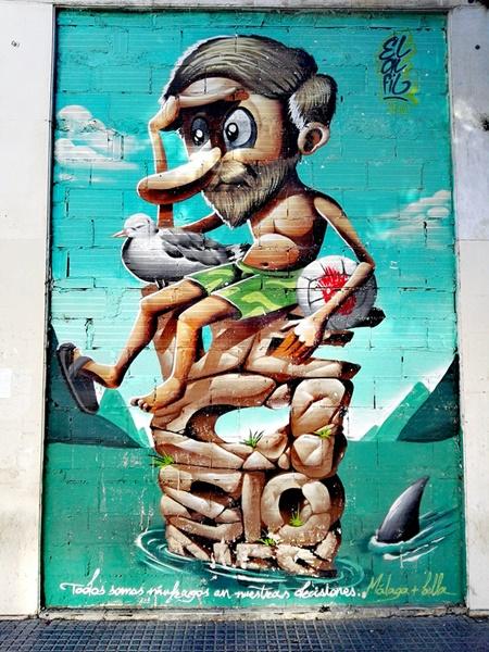 Graffiti en el Soho Málaga