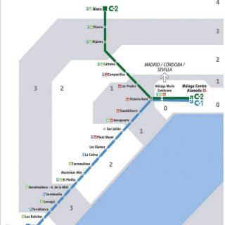 Cercanías Málaga: mapa, horarios, paradas y precios