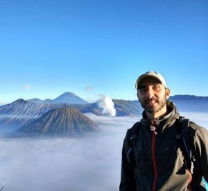 En el Monte Bromo, Java, Indonesia