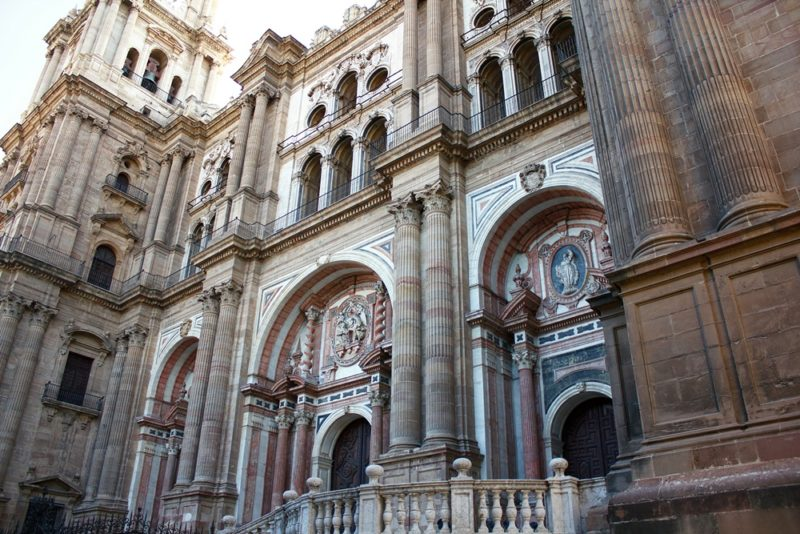 Catedral de Málaga desde Plaza del Obispo