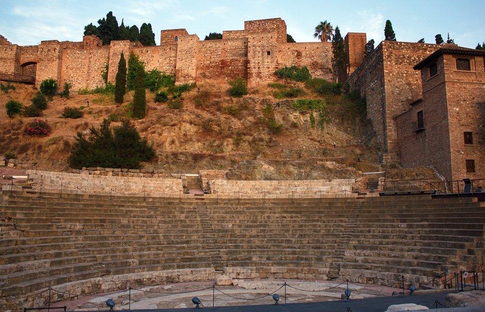 El teatro romano y la Alcazaba de Málaga