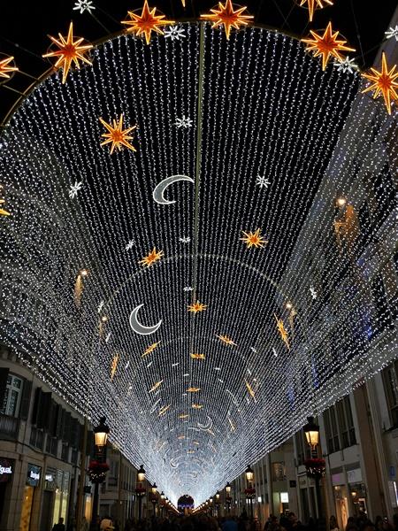 Luces de Navidad en la calle Larios