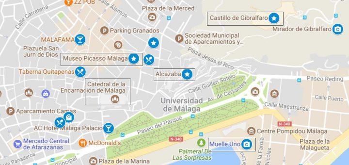 Itinerario para conocer Málaga en 1 día