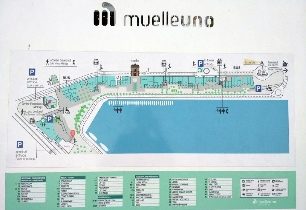 Plano del Muelle Uno