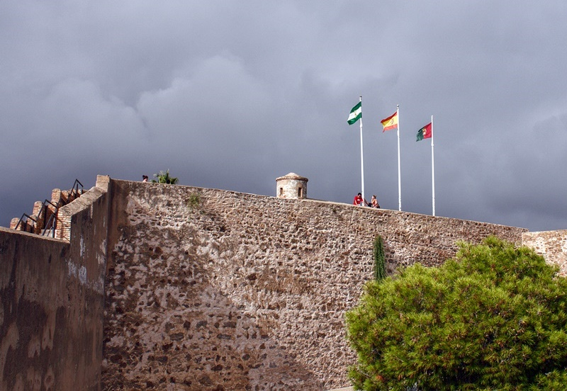 Vista superior del Castillo de Gibralfaro