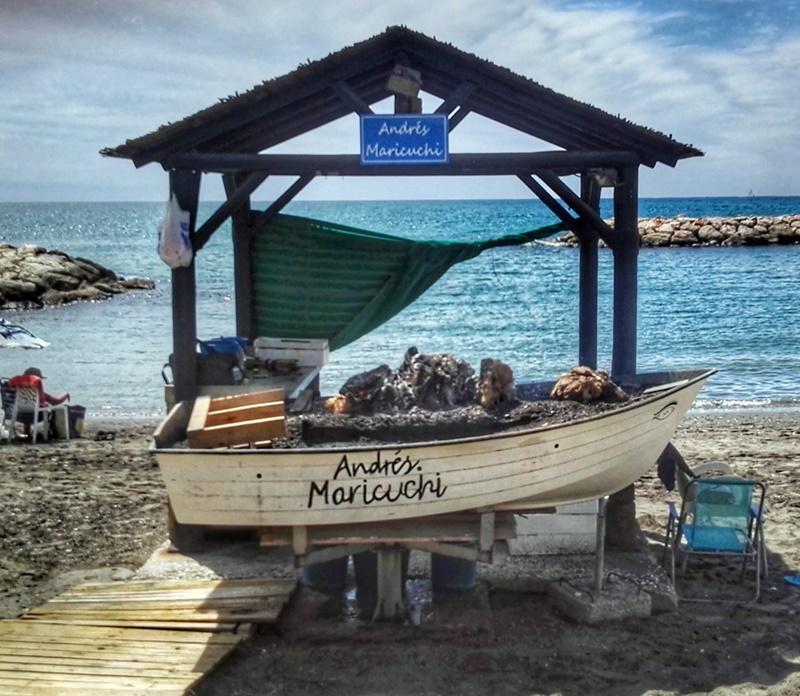 Barca preparada para los espetos
