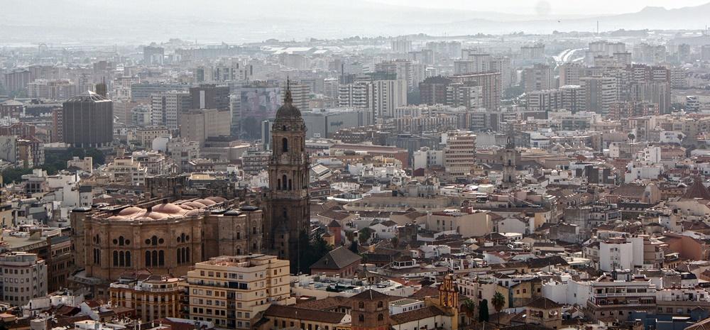Panorámica de Málaga y su catedral