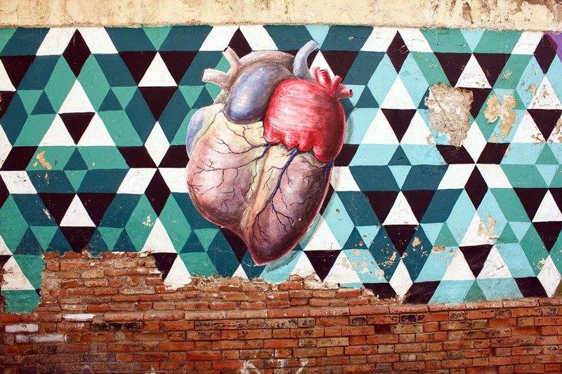 20 - Corazón grafitero