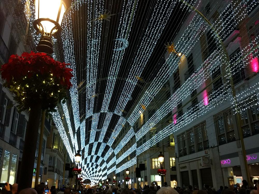 Las luces de calle Larios al ritmo de Queen