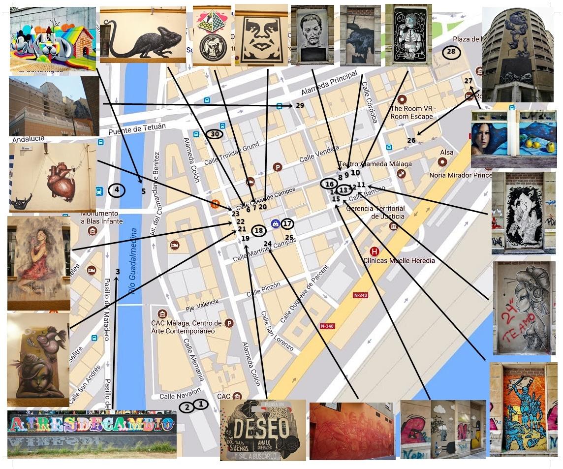 Mapa de graffitis del Soho