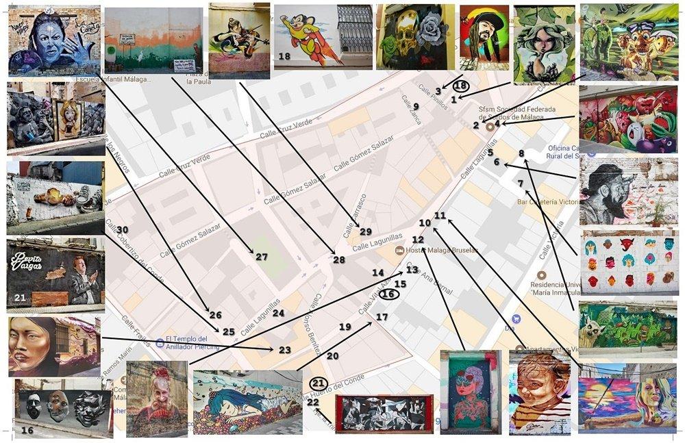 Mapa de los graffitis de Lagunillas