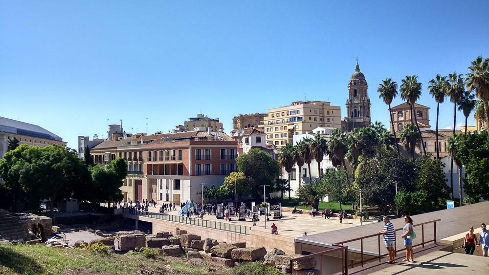 Primera vista desde el mirador de la Alcazaba de Málaga