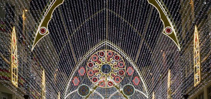Detalle de las luces de Navidad