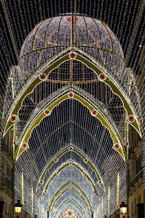 Estructura de cúpula de las luces de Navidad