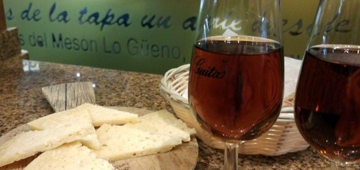 El postre de Lo Guëno, queso viejo y pajarete