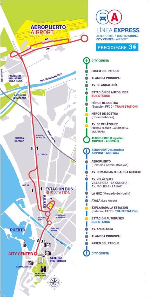 Paradas-Autobus-Malaga-Aeropuerto