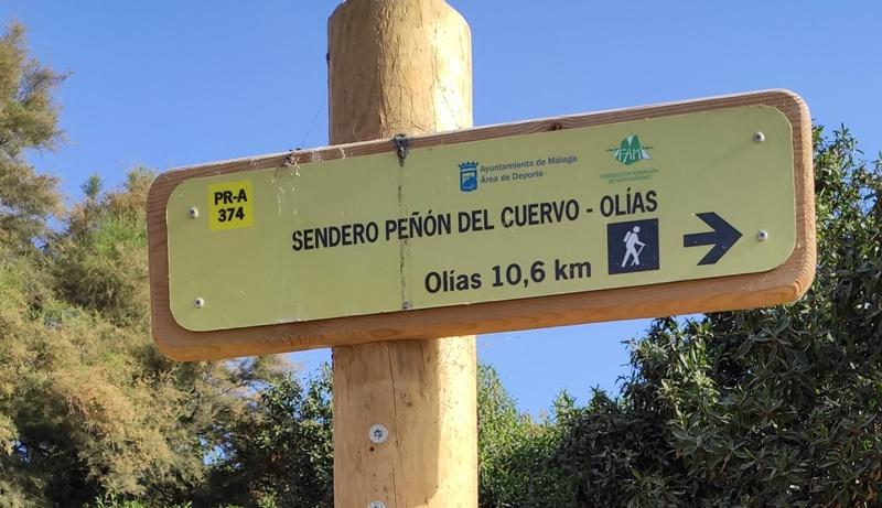 Señal-Inicio-Peñón-Cuervo-Olías