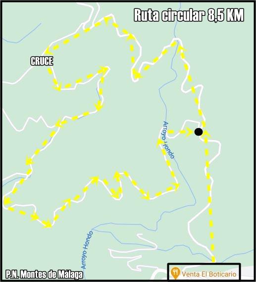 Mapa-Sendero-Circular-Montes-Malaga-Boticario