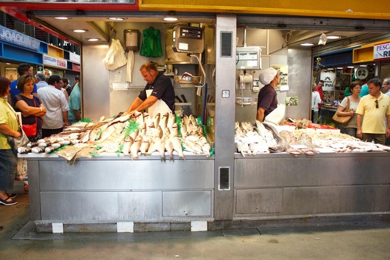 Puestos del mercado-malaga