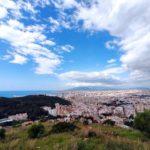 Subida al Monte Victoria. Las 3 letras más famosas de Málaga